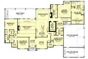 European Style House Plan - 4 Beds 3 Baths 3527 Sq/Ft Plan #430-128 Floor Plan - Main Floor