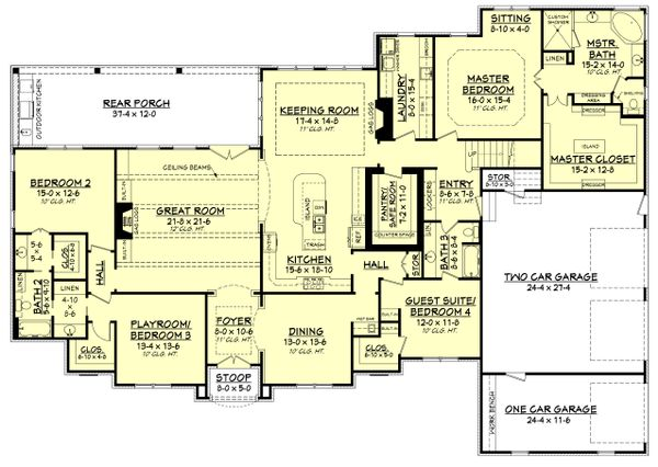 House Plan Design - European Floor Plan - Main Floor Plan #430-128