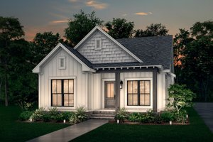 Dream House Plan - Cottage Exterior - Front Elevation Plan #430-40