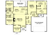 Traditional Style House Plan - 3 Beds 2 Baths 2019 Sq/Ft Plan #430-161 Floor Plan - Main Floor Plan