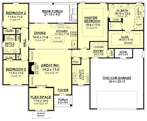 Traditional Floor Plan - Main Floor Plan Plan #430-161