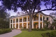 Southern Style House Plan - 6 Beds 6.5 Baths 9360 Sq/Ft Plan #20-2173 Exterior - Front Elevation