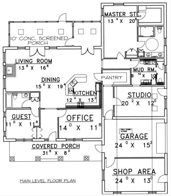 Floor Plan - Main Floor Plan Plan #117-564