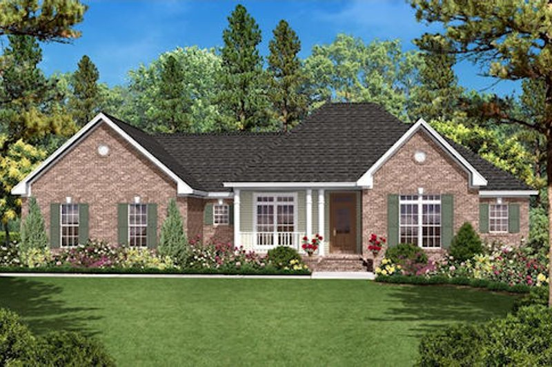 Traditional Exterior - Front Elevation Plan #430-16 - Houseplans.com