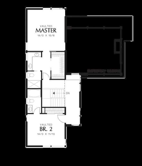 Modern Floor Plan - Upper Floor Plan Plan #48-525