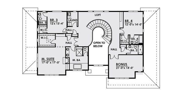 House Plan Design - Contemporary Floor Plan - Upper Floor Plan #1066-22