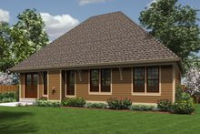 Home Plan - Traditional Exterior - Rear Elevation Plan #48-596