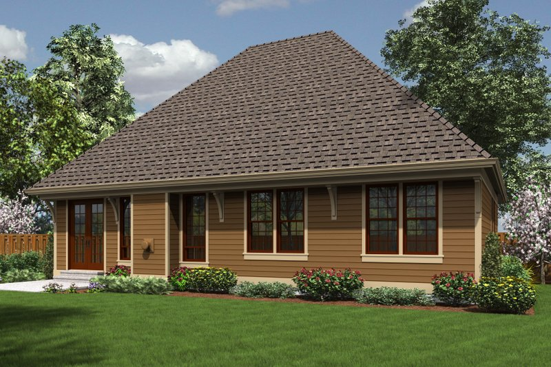 Traditional Exterior - Rear Elevation Plan #48-596 - Houseplans.com