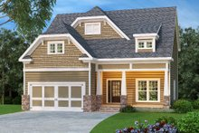 Craftsman Exterior - Front Elevation Plan #419-203