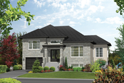Contemporary Style House Plan - 3 Beds 1 Baths 1680 Sq/Ft Plan #25-4545 Exterior - Front Elevation