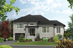 Contemporary Exterior - Front Elevation Plan #25-4545