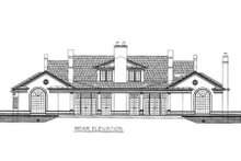 European Exterior - Rear Elevation Plan #119-106