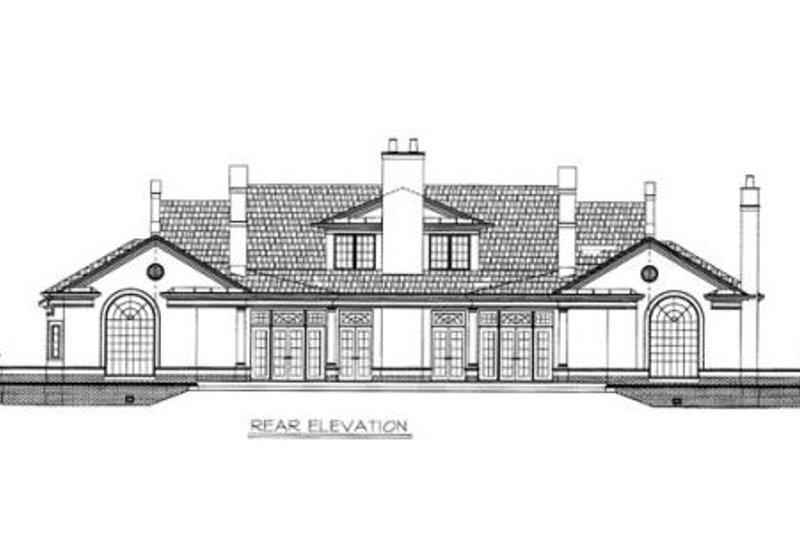 European Exterior - Rear Elevation Plan #119-106 - Houseplans.com
