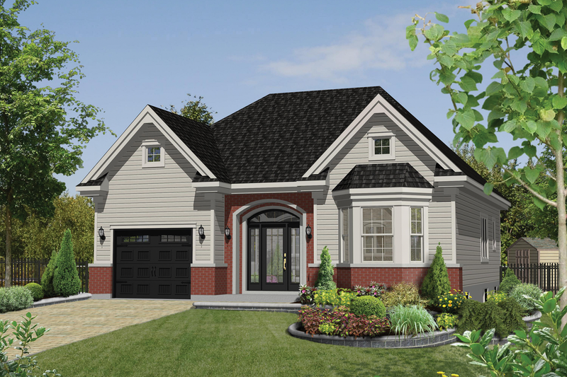 European Style House Plan - 2 Beds 1 Baths 1185 Sq/Ft Plan #25-4596 Exterior - Front Elevation