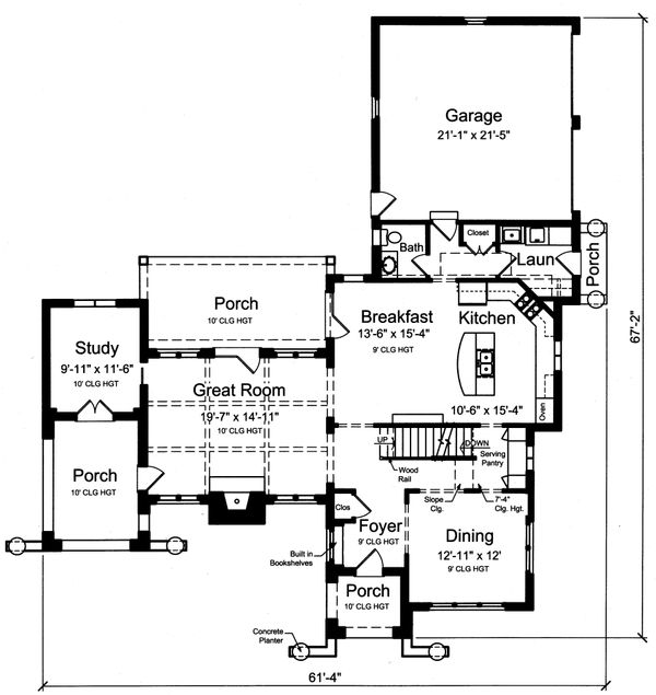 Traditional Floor Plan - Main Floor Plan #46-870