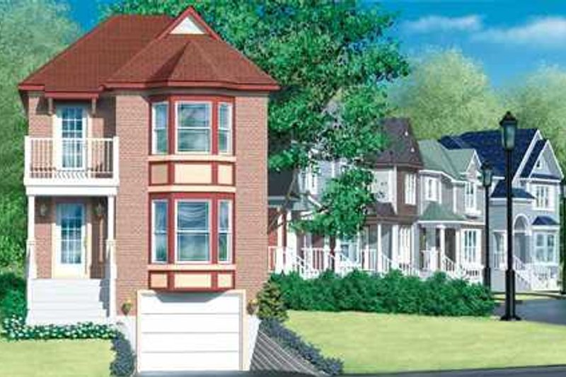 European Style House Plan - 2 Beds 1.5 Baths 1771 Sq/Ft Plan #25-4238 Exterior - Front Elevation