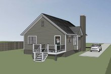 Dream House Plan - Cottage Exterior - Other Elevation Plan #79-135