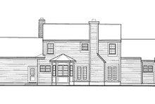 Southern Exterior - Rear Elevation Plan #3-189