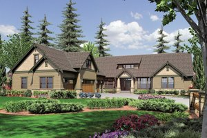 Craftsman Exterior - Front Elevation Plan #48-548
