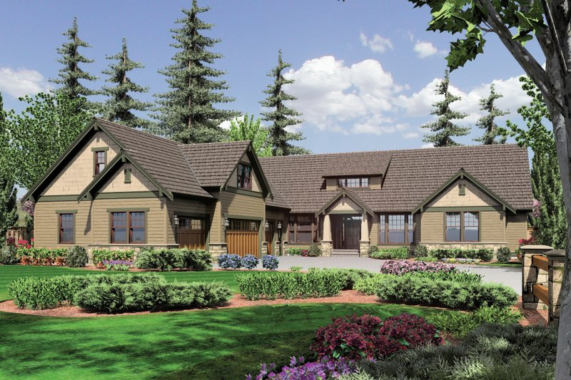 Craftsman Exterior - Front Elevation Plan #48-548