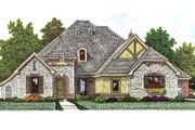 European Style House Plan - 3 Beds 3 Baths 2360 Sq/Ft Plan #310-972 Exterior - Front Elevation