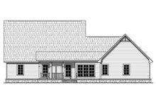 House Plan Design - Craftsman Exterior - Rear Elevation Plan #21-312