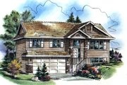Traditional Style House Plan - 3 Beds 1 Baths 1454 Sq/Ft Plan #18-307 Exterior - Front Elevation