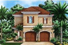 House Plan Design - Mediterranean Exterior - Front Elevation Plan #27-535