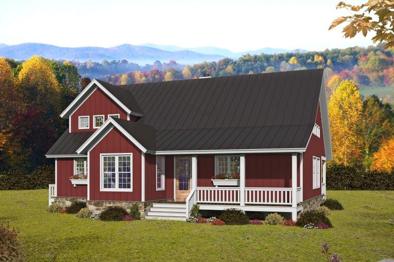 House Plan Design - Farmhouse Exterior - Front Elevation Plan #932-394