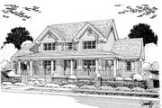 Farmhouse Style House Plan - 4 Beds 3 Baths 2481 Sq/Ft Plan #513-2050 Exterior - Other Elevation
