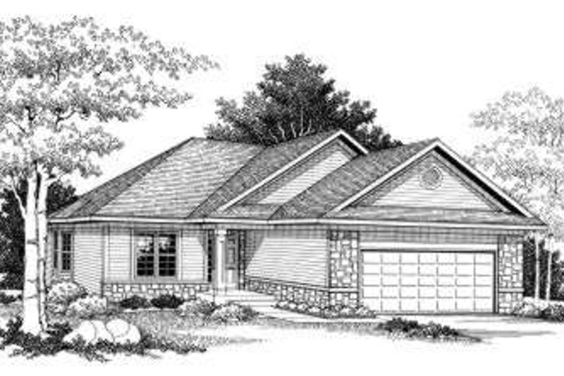 Ranch Exterior - Front Elevation Plan #70-770