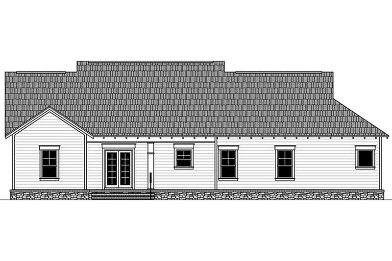 Craftsman Exterior - Rear Elevation Plan #21-382 - Houseplans.com