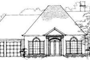 Southern Exterior - Front Elevation Plan #325-107