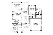 Contemporary Style House Plan - 5 Beds 3.5 Baths 3261 Sq/Ft Plan #48-1013 Floor Plan - Main Floor