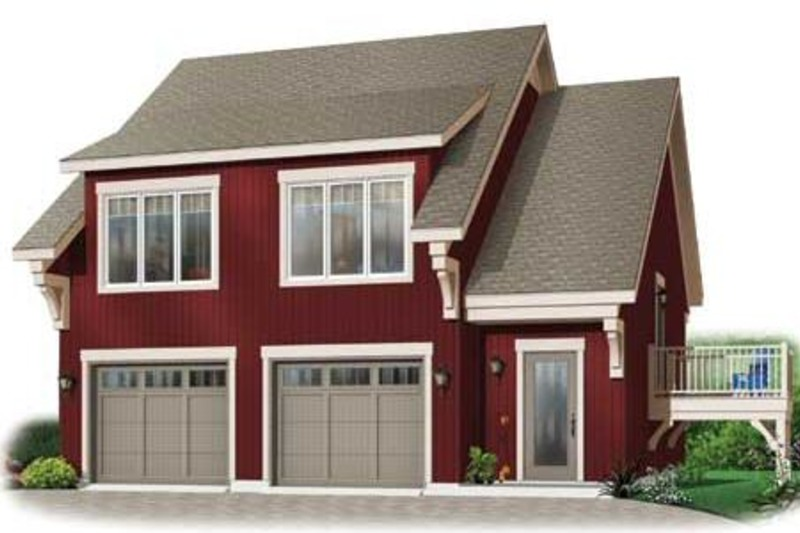 Traditional style house plan 2 beds 1 5 baths 1068 sq ft for Garage design source