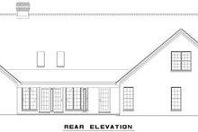 House Plan Design - Ranch Exterior - Rear Elevation Plan #17-575