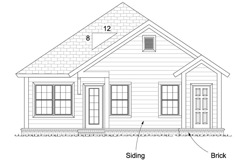 Cottage Exterior - Other Elevation Plan #513-2092 - Houseplans.com