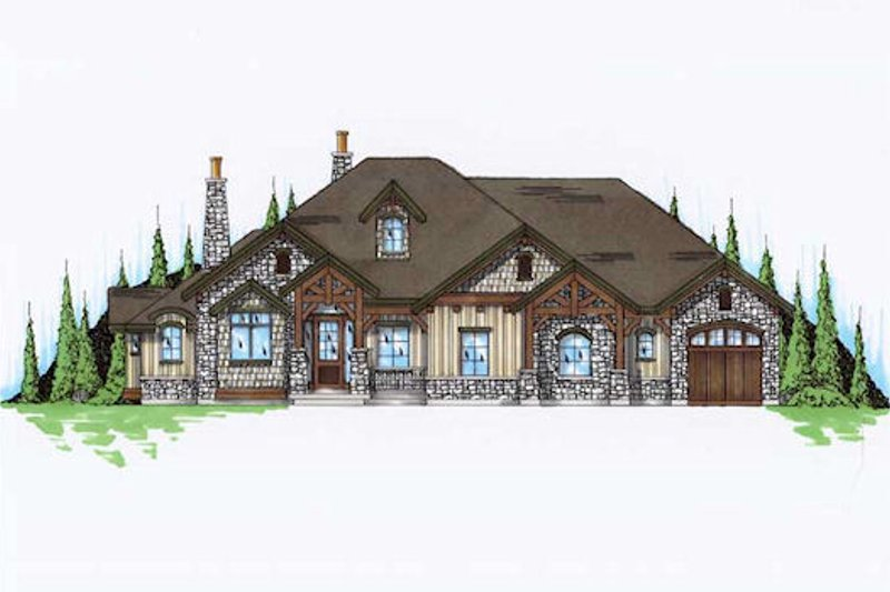 Home Plan - European Exterior - Front Elevation Plan #5-305