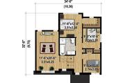 Contemporary Style House Plan - 3 Beds 1 Baths 1607 Sq/Ft Plan #25-4347 Floor Plan - Upper Floor Plan