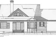 Southern Style House Plan - 4 Beds 3 Baths 2406 Sq/Ft Plan #137-246 Exterior - Rear Elevation