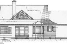 Southern Exterior - Rear Elevation Plan #137-246