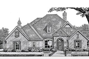 European Exterior - Front Elevation Plan #310-267