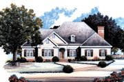 Country Style House Plan - 3 Beds 2.5 Baths 2077 Sq/Ft Plan #429-25 Exterior - Front Elevation