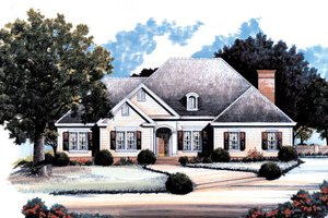 Country Exterior - Front Elevation Plan #429-25