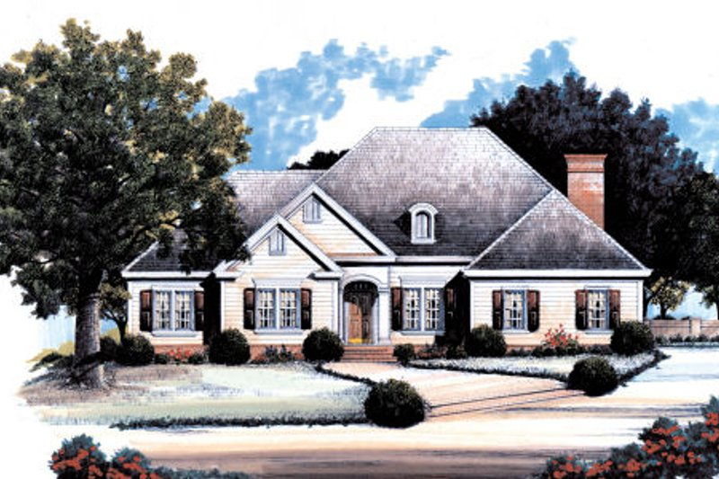Dream House Plan - Country Exterior - Front Elevation Plan #429-25