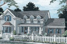 House Design - Traditional Exterior - Front Elevation Plan #20-313