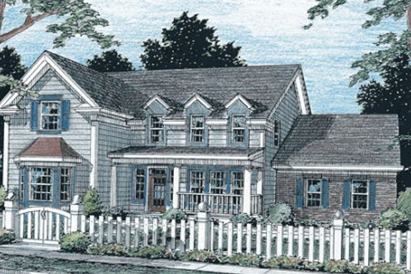 Home Plan - Traditional Exterior - Front Elevation Plan #20-313