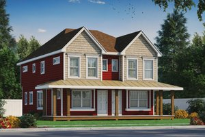 Country Exterior - Front Elevation Plan #20-2383