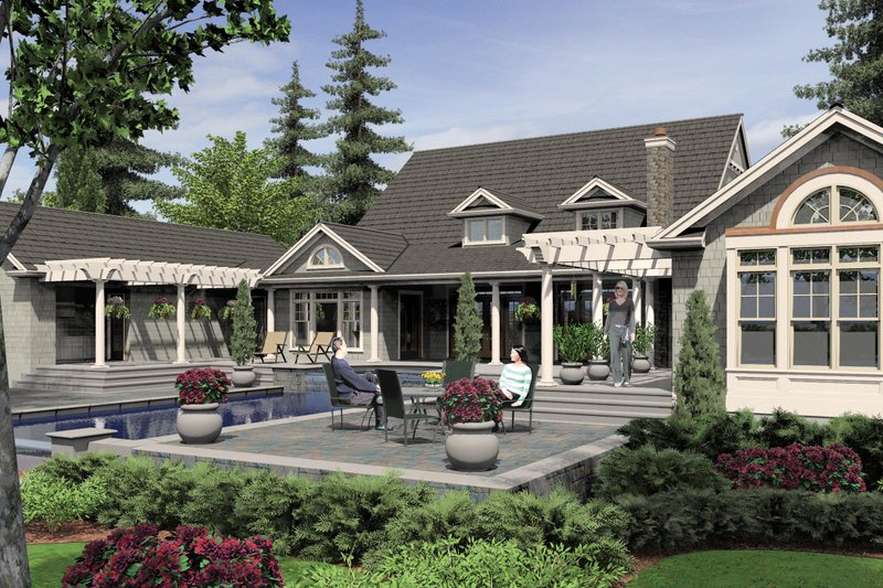 Country Exterior - Rear Elevation Plan #48-237 - Houseplans.com