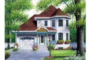 Victorian Style House Plan - 3 Beds 1.5 Baths 1508 Sq/Ft Plan #23-2001 Exterior - Front Elevation